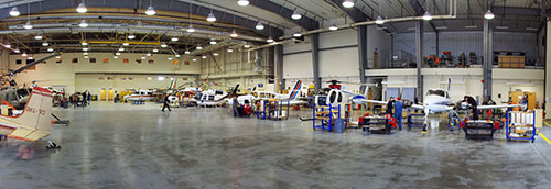 NLC's Aerospace Hangar in 道森克里克